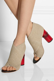 Roza stretch-canvas sandals