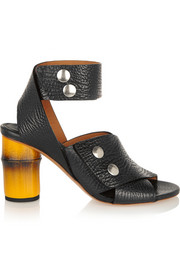 Pica textured-leather sandals