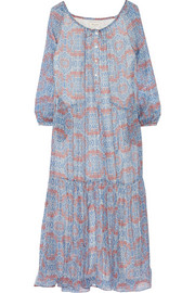 Paul & Joe Chatoyan printed silk-chiffon maxi dress