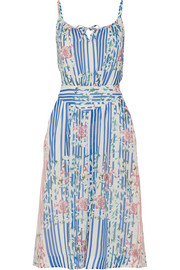 Paul & Joe Courtois printed silk and cotton-blend dress