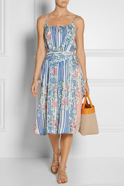Courtois printed silk and cotton-blend dress