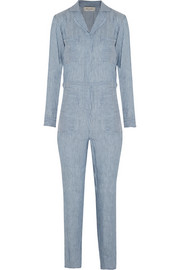 Pelops striped linen and modal-blend jumpsuit