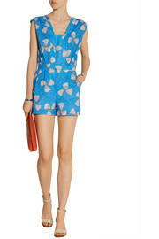 Paul & Joe Danaos printed broderie anglaise cotton playsuit
