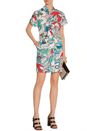 Violeta printed cotton-poplin shirt dress