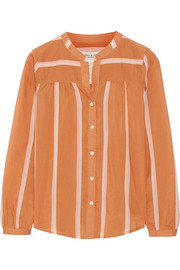 Hordela striped cotton-blend blouse