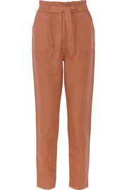 Kedeson linen and cotton-blend tapered pants