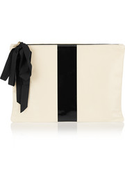 Clare V Coated leather clutch