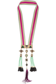 Etro Gold-plated multi-stone necklace