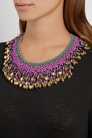 Etro Gold-plated beaded necklace