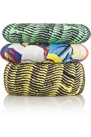 Etro Set of three printed crepe bangles