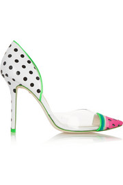 Jessica Watermelon patent-leather and PVC pumps