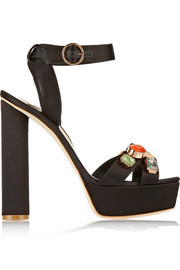 Sophia Webster Amanda embellished satin sandals