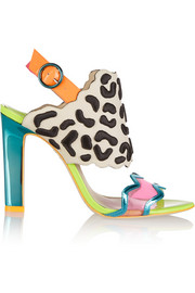 Sophia Webster Dionne embroidered leather and PVC sandals
