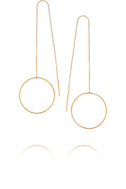 Monocle gold-plated earrings