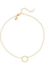 Maria Black Mono gold-plated anklet