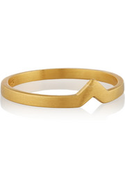 Maria Black Hero gold-plated phalanx ring