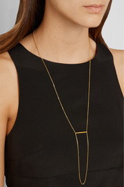 Maria Black Klaxon gold-plated necklace
