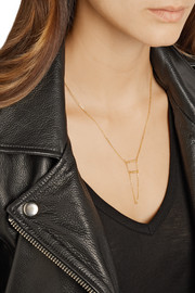Maria Black Double Klaxon gold-plated necklace