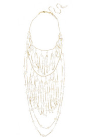 Cometa gold-dipped, bead and freshwater pearl necklace