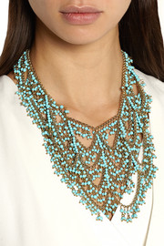 Rosantica Gold-dipped turquoise multi-strand necklace