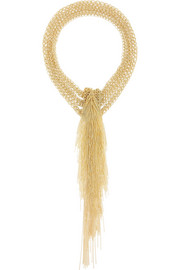 Itaca gold-dipped necklace