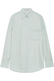 Oversized washed-poplin shirt