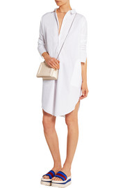 Lash Tech oversized cotton-poplin shirt dress