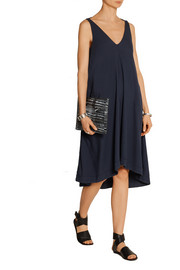 Acne Studios Asymmetric modal and cotton-blend twill dress