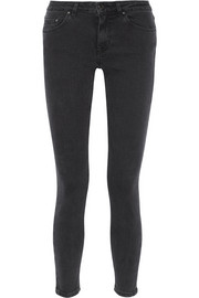 Skin 5 Pocket Used Black mid-rise skinny jeans