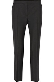 Saville wool and mohair-blend tapered pants