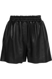 Salt Light leather shorts