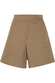 Acne Studios Tail cotton-blend twill shorts