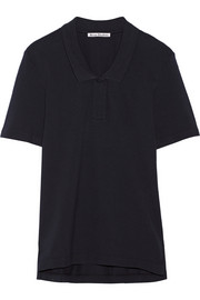 Teresa L Piq oversized cotton-piqué polo shirt