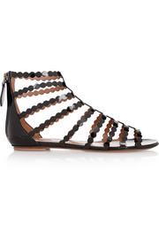 Alaïa Laser-cut patent-leather sandals