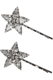 Cara Swarovski crystal-embellished hair slides
