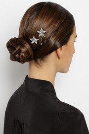 Jennifer Behr Cara Swarovski crystal-embellished hair slides