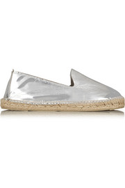 Los Angeles mirrored coated canvas espadrilles