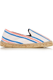 Ibiza striped canvas espadrilles