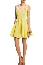 Giambattista Valli Embellished silk and cotton-blend mini dress