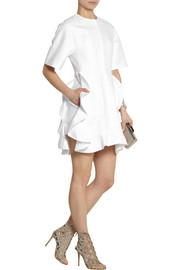 Giambattista Valli Ruffled cotton-twill mini dress