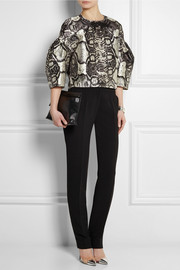 Giambattista Valli Printed woven satin top
