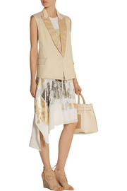 Reed Krakoff Asymmetric foil-print silk dress