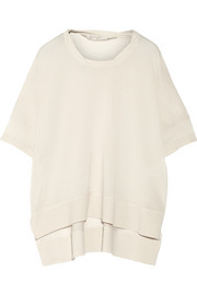 Cashmere, wool and silk-blend top