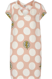 KENZO Printed crepe mini dress