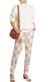 KENZO Polka-dot crepe tapered pants