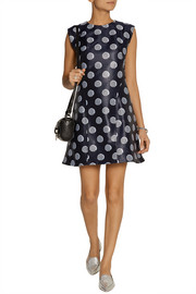 KENZO Striped polka dot-jacquard dress