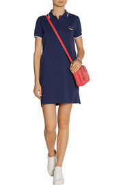 KENZO Embroidered cotton-piqué mini dress