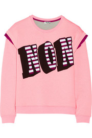 Non appliquéd cotton-jersey sweatshirt