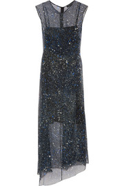 Marie printed silk-chiffon dress