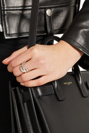 Saint Laurent Monogramme silver-plated ring